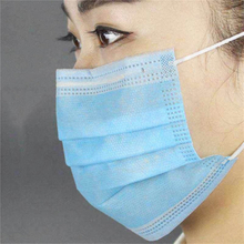 Disposable medical blue white pp nonwoven mask