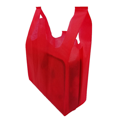 Eco-friendly Cheap Disposable Non Woven Spunbond Shopping Bag T-shirt Bag