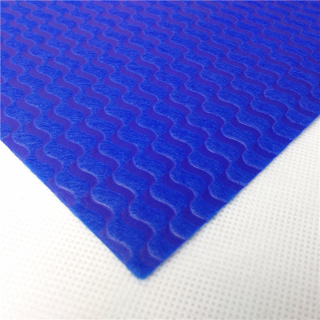 Flower packing material use colorful embossed Wave pattern non woven fabric roll