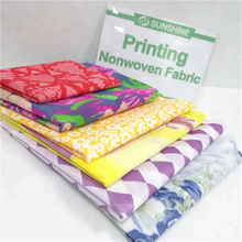 Sunshine colorful 100% polypropylene spunbond nonwoven printed non woven fabric