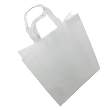 2021 White handle bag pp non woven fabric for shopping bags manufacturer