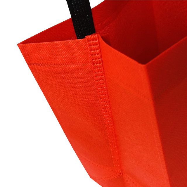 2019 Red Handle Bag Pp Non Woven Fabric for Shopping Bags Manufacturer