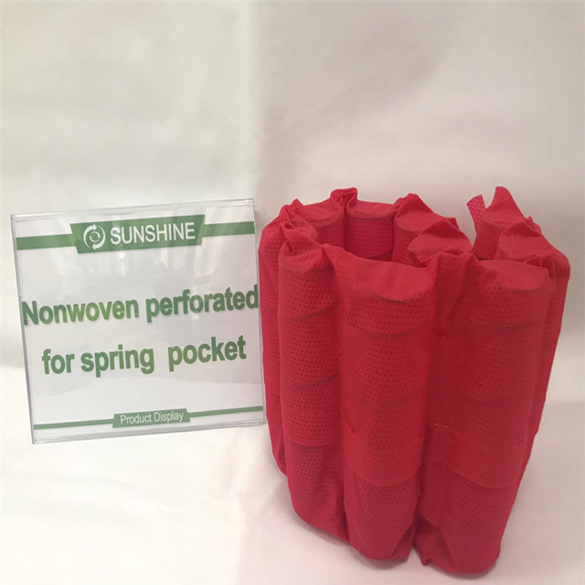 Popular 100%polypropylene Spunbond Nonwoven Fabric Roll Spring Pocket
