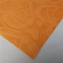Colorful love design emboss nonwoevn fabric roll for Holiday gift