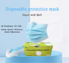 disposable hot selling 3 ply disposable face mask