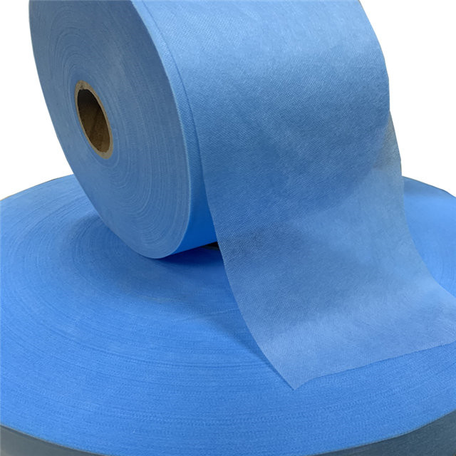 Disposable Protective Gown Material blue SS Medical Polypropylene Spunbonded Nonwoven Fabric Rolls