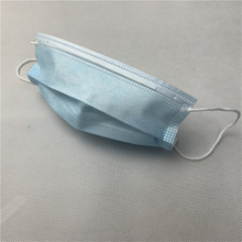 Medical blue disposable medical protective mask three layers non woven mask